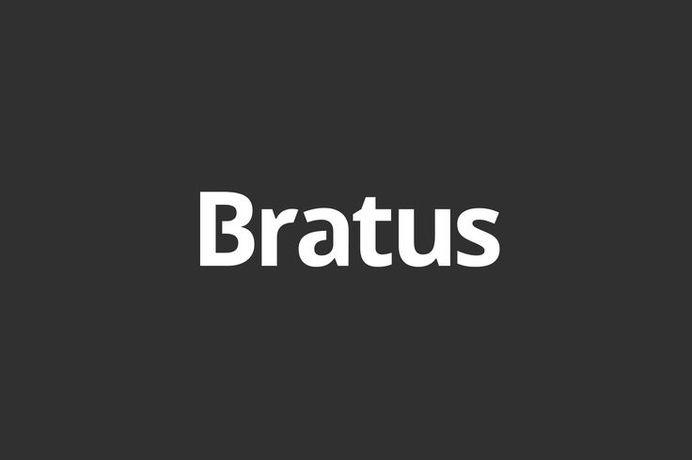 Bratus #mark #logotype #old #agency #vietnam #white #branding #and #design #minimalism #black #brand #identity #minimal #typeface #custom #logo #bratus