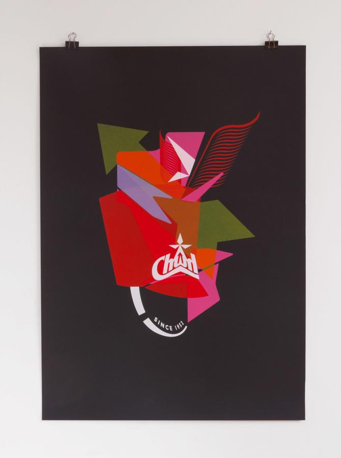 5 color screen print inspired by Kendrick Lamar's Money Trees printed on 370gr Fedrigoni Sirio Ultra Black #printmakingmoneygang