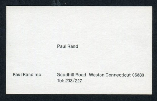 AMASSBLOG » paul rand inc. #business #card #design #graphic #rand #paul