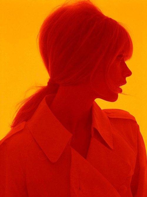 red girl #photo #palette