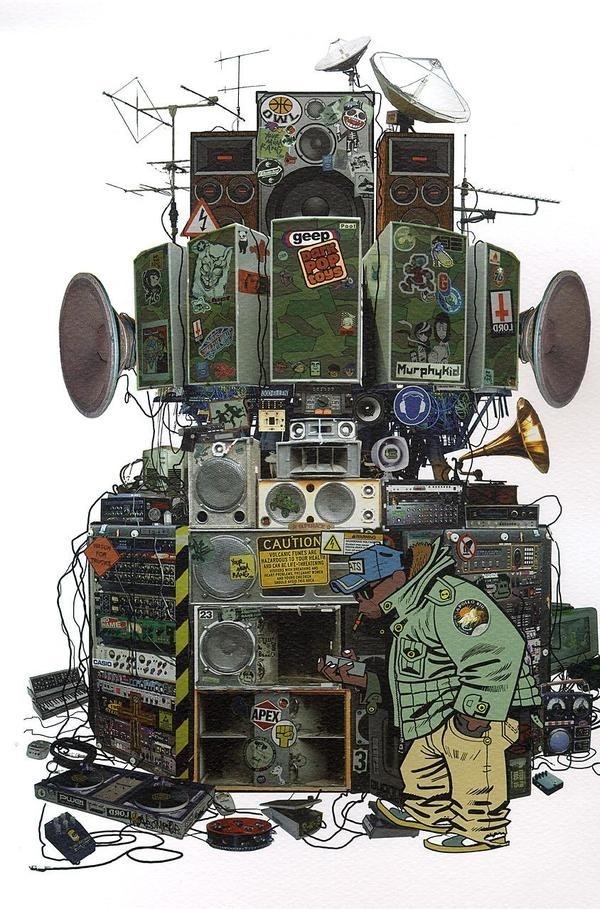 A snail's life : Photo #speakers #gorillaz
