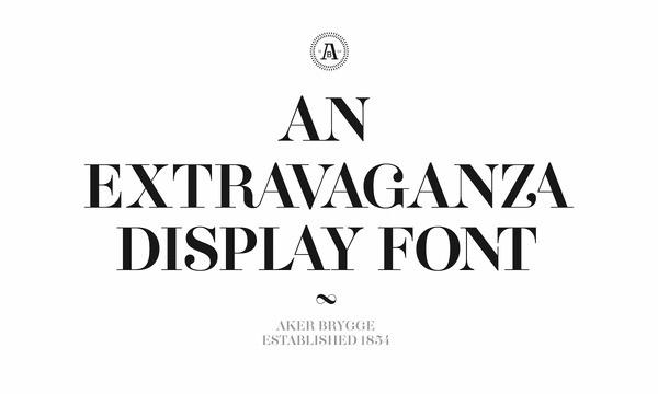 Aker Brygge Display — Aker Brygge Display is a bespoke typeface designed for Aker Brygge. Design by Sans Colour. #brygge #display #design #sans #aker #typeface #designed #bespoke #colour