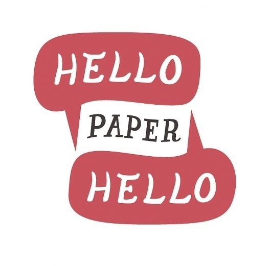 All sizes | Hello Hello Paper logo | Flickr - Photo Sharing! #paper #hello #typography
