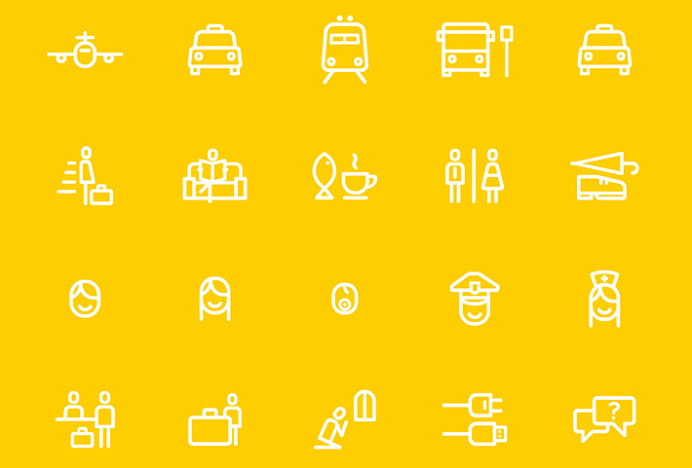London Luton Airport by Ico Design and Atipo #icons #brand design