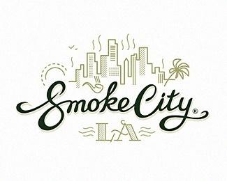 smoke city LA #logo #logotype #branding #typography