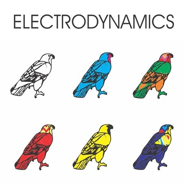 Electrodynamics Album Cover #album #electro #design #color #cover #lp #art #music #hawk #electrodynamics