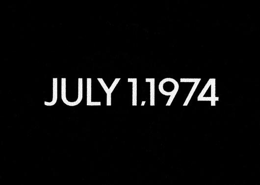 ON KAWARA - JULY 1, 1974. Liquitex on canvas. #on #art #futura #canvas #kawara