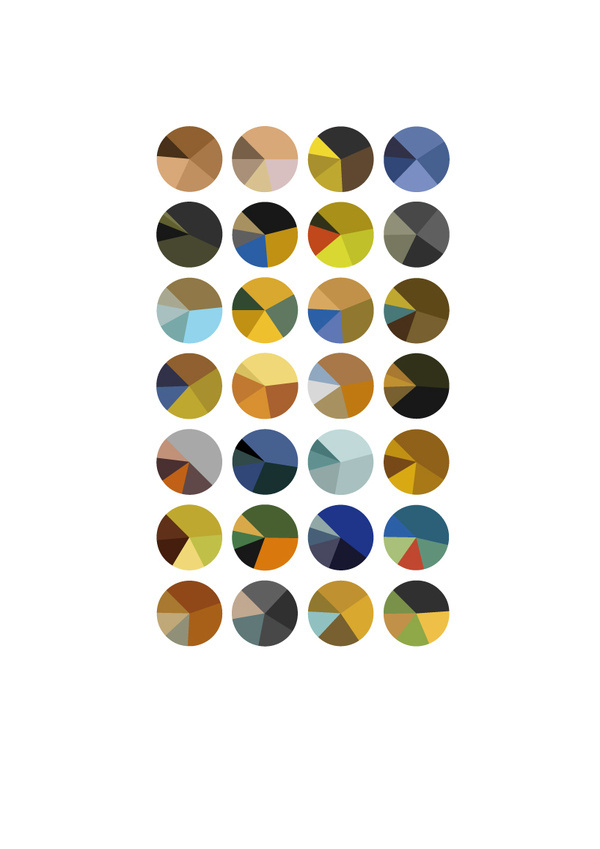 arthur buxton: color trend visualizations #gogh #infographics #van #color #visualization