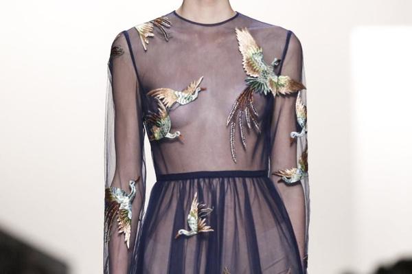 Valentino f/w 2014 #woman #birds #transparent #valentino #fashion