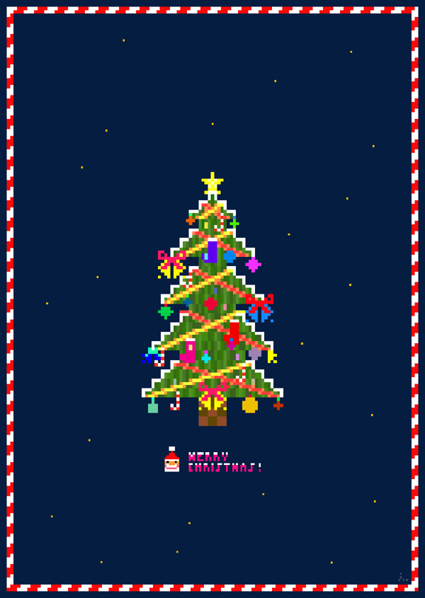 Pixel Christmas Tree in Design
