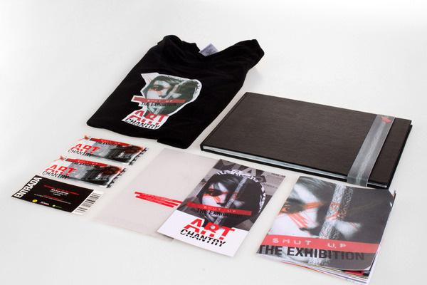 Art Chantry : Shut Up - The exhibition #punk #red #fanzine #branding #shut #merch #stationery #design #exhibition #rubish #identity #vintage #envelope #art #up #chantry #collage
