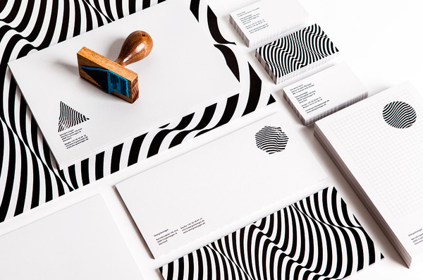 designbolaget_1 #stamp #white #pattern #business #branding #id #print #black #and #cards