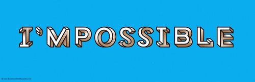 I'MPOSSIBLE #type #font #macula