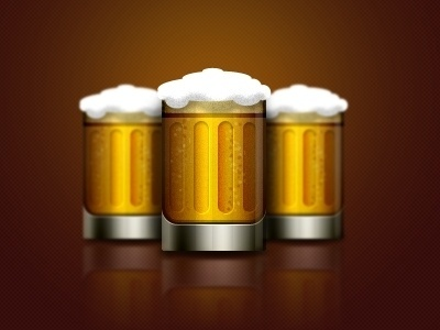 Dribbble - Tapped Out by Alvin Thong #beer #icon #design #graphic #web