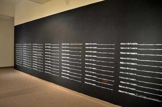 Before I Die… begins « Candy Chang #chalkboard #death #chalk #installation