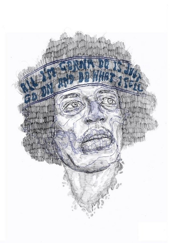 jimi hendrix / Self destruction by heymikel #illustration #hendrix