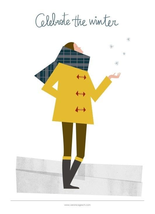 veronica grech - Celebrate the winter #illustration #cold #winter