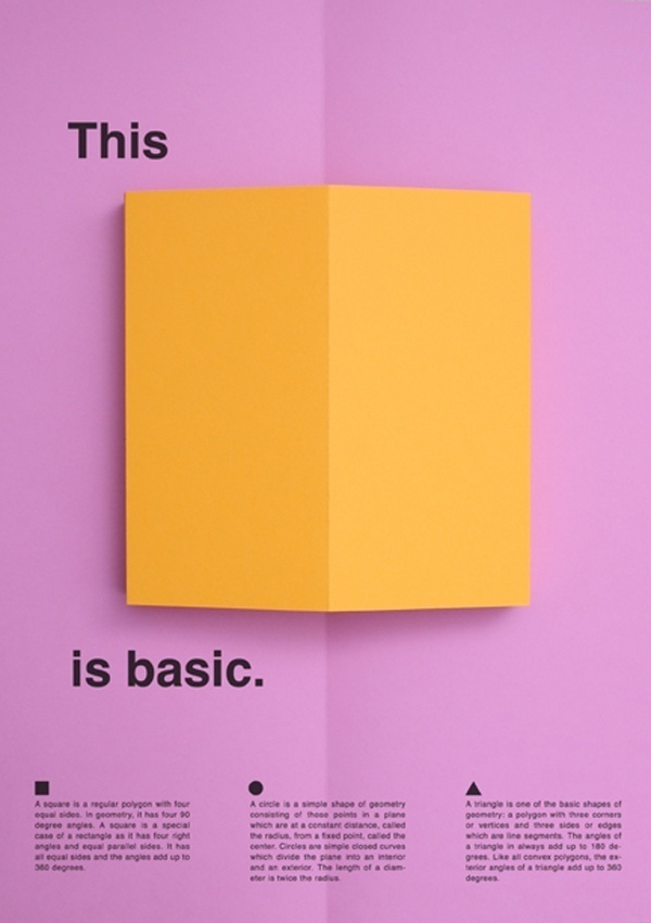 thisisbasic_posters_square #fold #color #minimal #poster #paper