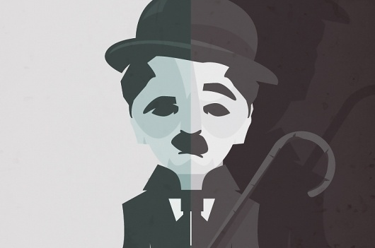 chaplin_guapo_02.jpg (753×500) #illustration #chaplin #vectorial