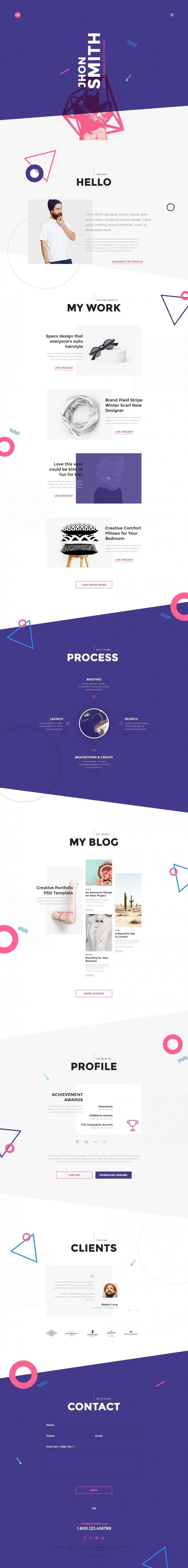 Me – Creative Portfolio & Resume / CV
