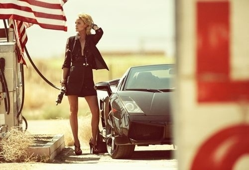 refuel. ▼ erdëmGULTEKIN. #lamborghini #car #girl