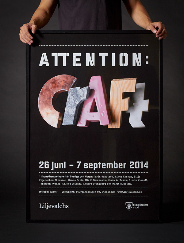 Attention: Craft on Behance #type #image