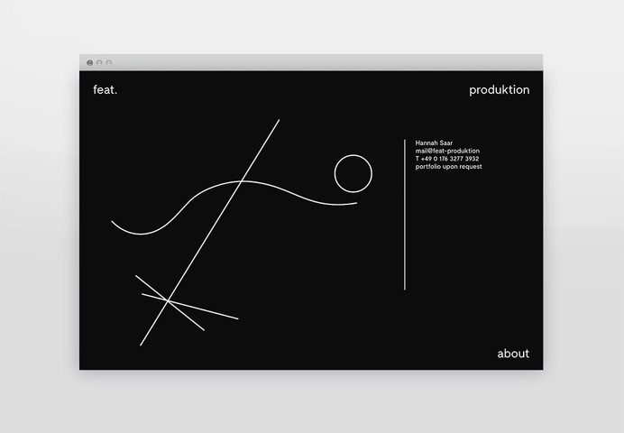 Feat. Produktion Identity Branding identity corporate design modern minimal best beauty beautiful black dark logo geometry line lines moby d