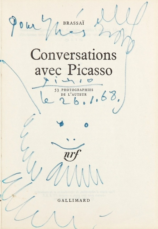 Pablo Picasso Tete d Homme barbu heureux #cover #picasso #book #sketch