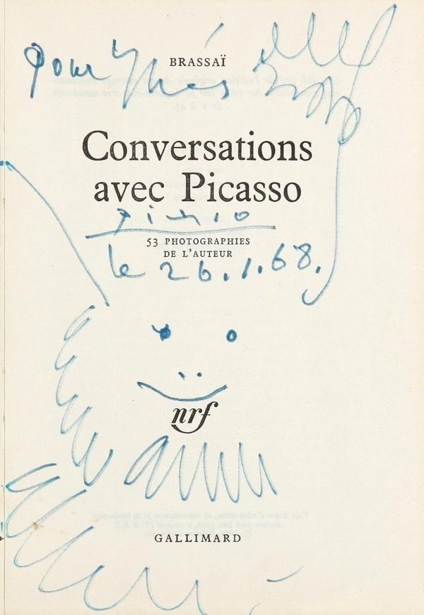 Pablo Picasso   Tete d Homme barbu heureux