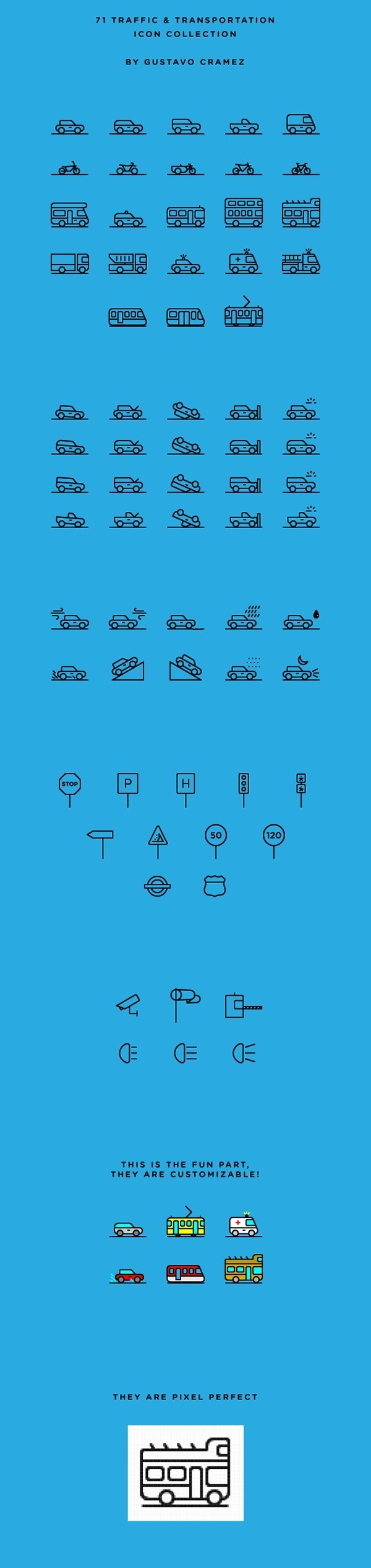 71 Traffic & Transportation Icon Collection | Free on Behance #pictogram #icon #sign #picto #symbol