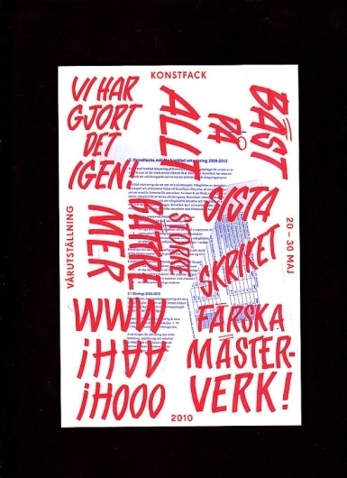 Konstfack Spring Exhibition 2010 / Bench.li #print #design #graphic #typography