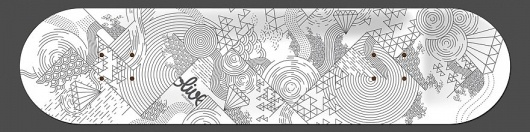 Lines and Diamonds - Skate & Snowboard Art - Creattica #design #black #illustration #art #skateboard