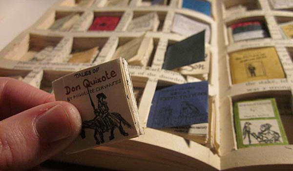 Tiny books inside book #book