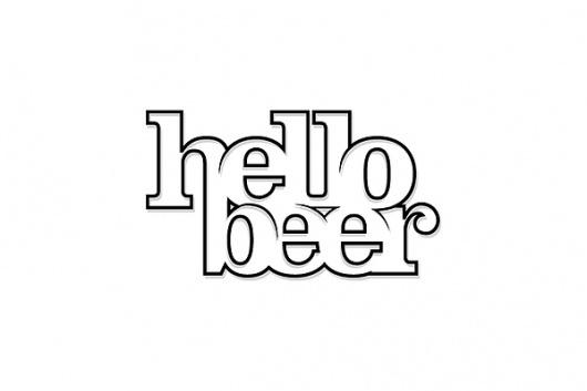 Logo Designs on the Behance Network #beer #line #white #kelava #black #hello #and #logo