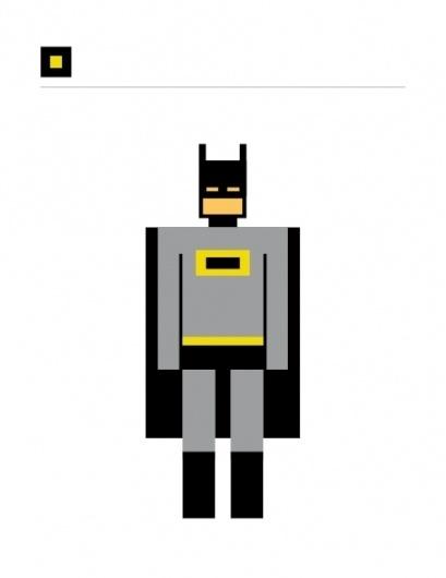 SQUARED SUPERHEROES #icon #grid #square #batman
