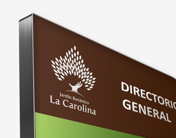 la Carolina #logotype #branding #garden #nature #signage #ecuador