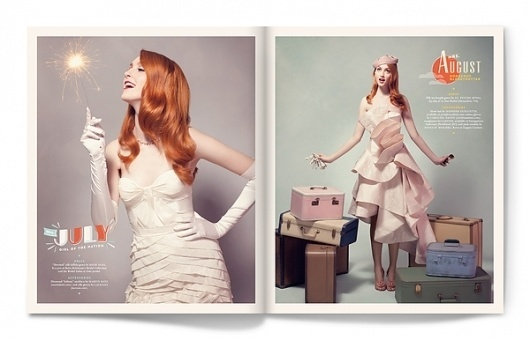 Calendar Girl on the Behance Network #calendar #design #army