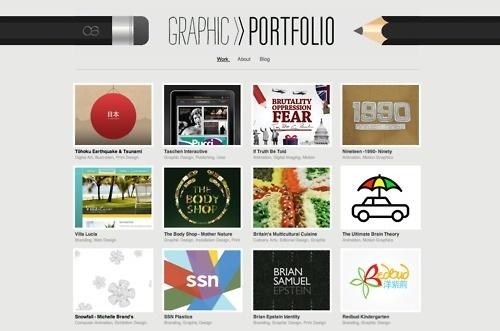 Tumblr #website #portfolio #pencil #graphic