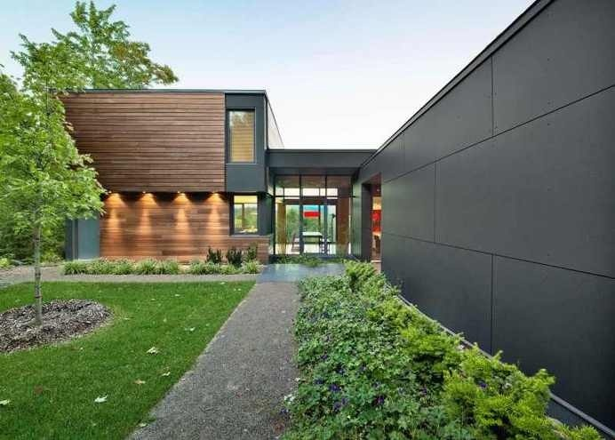 Impressive Modern Country Retreat in Quebec, Canada: T House #modern #retreat #quebec #architecture #country