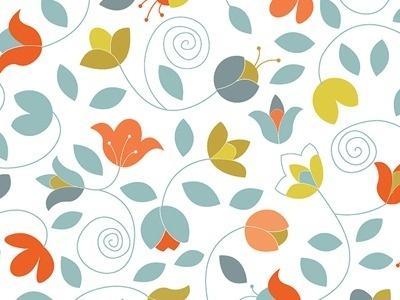 Dribbble - Lindsay Pattern by Steph Devino #illustration #color #pattern
