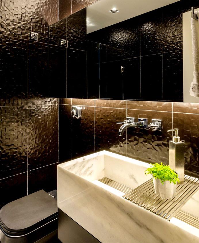 Attractive Apartment in Brazil - bathroom, bathroom design, bath, interior design, #bathroom