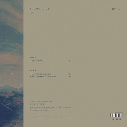 Tycho presents Dive [Single] - Ghostly International #tycho #packaging #design #dive #vinyl #iso50 #music #layout