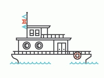 Always With Honor #illustration #line #boat