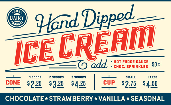 Big icecream #signage #cream #ice #typography