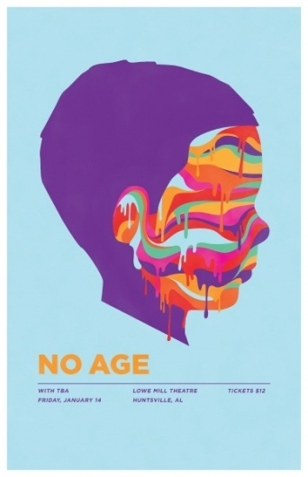 GigPosters.com - No Age #music #print #poster