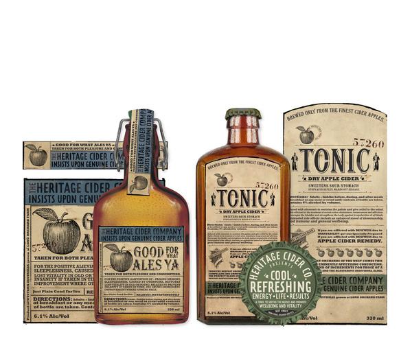 HERITAGE CIDER PACKAGING on Behance #packaging #vintage #label