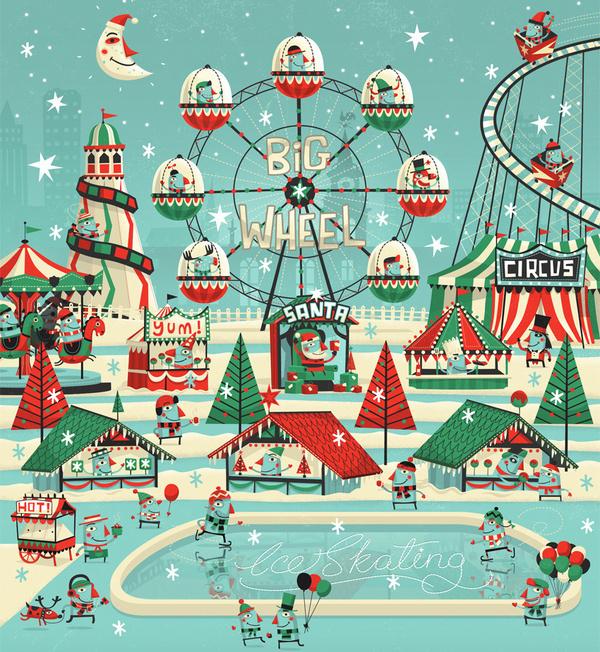 7up Wonderland on the Behance Network #christmas