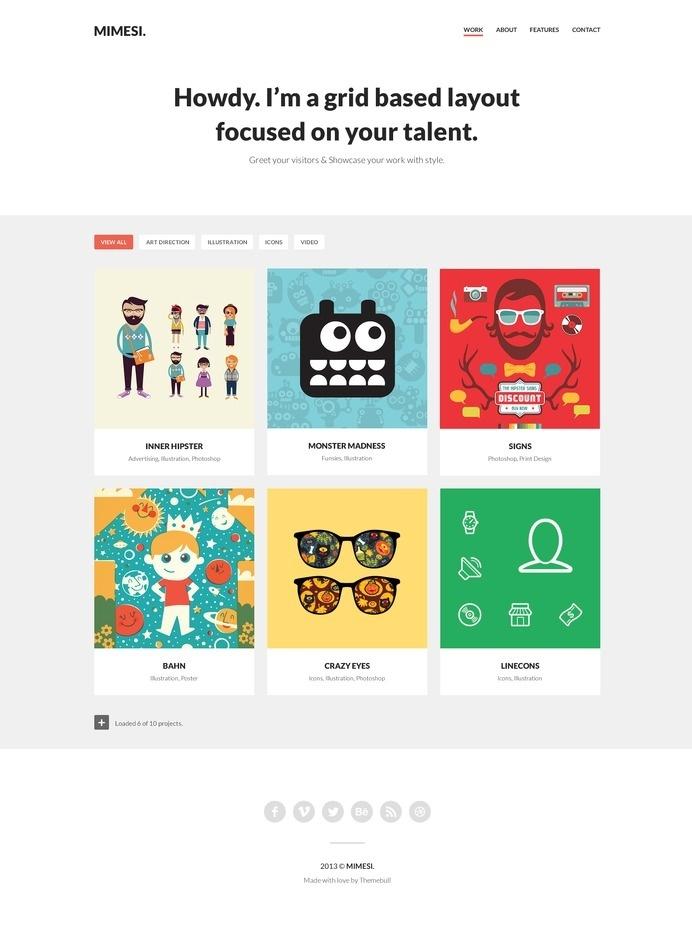 MIMESI Tumblr Portfolio Theme #tumblr #mario #maruffi #ux #mimesi #portfolio #design #themebull #theme #website #ui #web