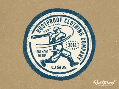 RUSTPROOF Clothing Patch #baseball
