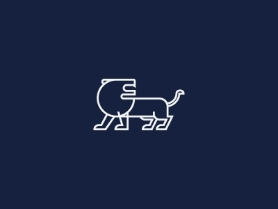 Dribbble - Lion Isotype by Jorge Mar #icon #logo #isotype #pictogram